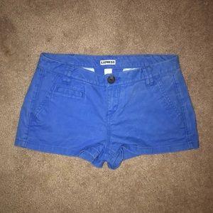 Royal blue Express shorts